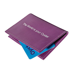 'The World Is Your Oyster' Travel Card Holder