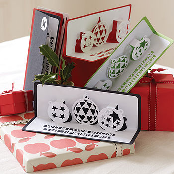 Baubles Pop-Up Card