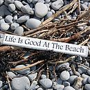 Beach Hut Coastal Living Vintage Sign