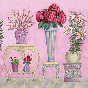 Pink Flower Shop Card