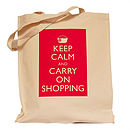 Red 'Keep Calm And Carry On' Bag