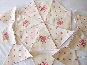 Tilly Floral & Polka Dots Bunting - decorative accessories