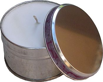 Natural Soy Wax Candle in Silver tin