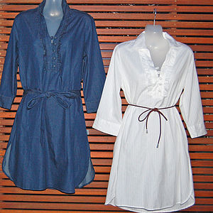 Denim Shirt Dress - dresses