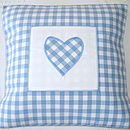 Blue Gingham Heart