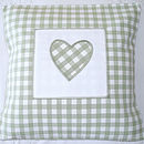 Green Gingham Heart