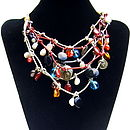 Romany Gemstone and Large Baroque Pearl Necklace