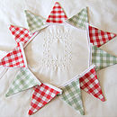 Red & Green Mini-Bunting