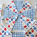 Tiddler Bunting - Blue Gingham