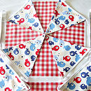 Tiddler Bunting - Red Gingham