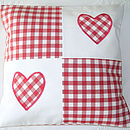 Red Patchwork Hearts