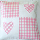 Pink Patchwork Hearts