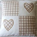 Beige Patchwork Hearts