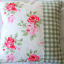 Roses & Gingham Cushion Cover