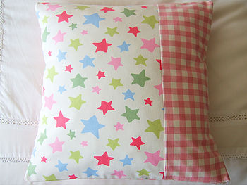 Shooting Stars - Pink Gingham