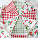 Strawberries - Red & Green Gingham
