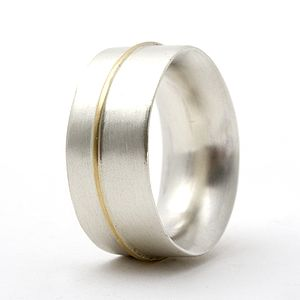 Chunky Ring With 18ct Gold Detail - wedding & engagement rings