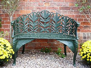 Cast Iron Laurel Bench