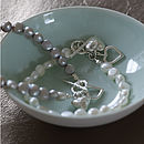Silver Heart Bracelet With Freshwater Pearls