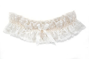 Odiana Ivory And Palest Blush Pink Wedding Garter - the morning of the big day