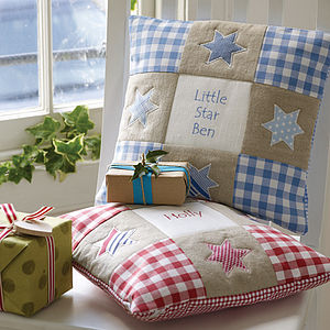 Personalised Star Cushion - gifts for babies
