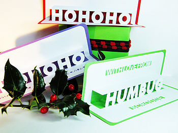 Personalised 'Humbug' Christmas Pop Up Card