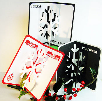 Personalised Christmas Snowflake Pop Up Card