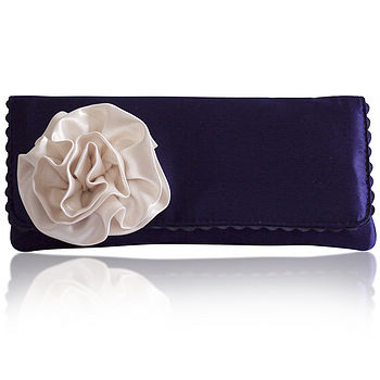 Georgia purple and ivory clutch