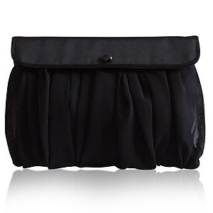 Scout black clutch - women's accessories
