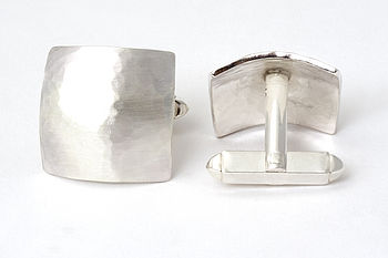 Hammered Cushion Cufflinks