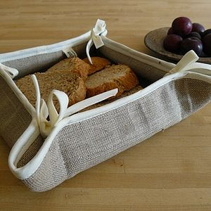 Linen Bread Basket - 4th anniversary: linen