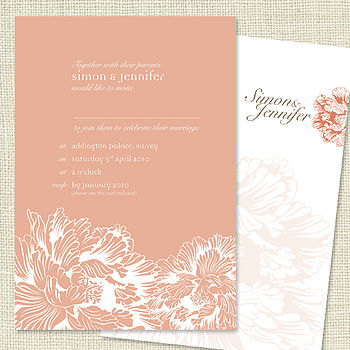 Vintage Peony Wedding Stationery Range