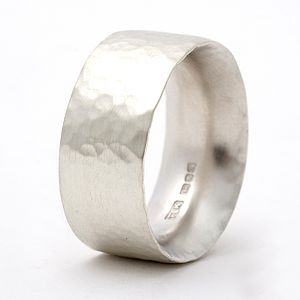 Chunky Hammered Ring - personalised