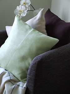 Herringbone Pure Linen Cushion Cover Emilia - bedroom