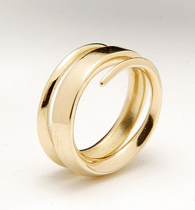18ct Yellow Gold Full Spiral Ring