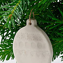 White Porcelain Bauble Decoration