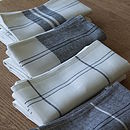 Linen Cotton Tea Towels Graphite Sets