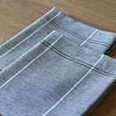 Linen Cotton Tea Towels Graphite Due