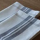 Linen Cotton Tea Towels Graphite Tre