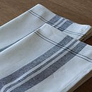 Linen Cotton Tea Towels Graphite Tre