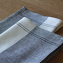 Linen Cotton Tea Towels Graphite Cinque