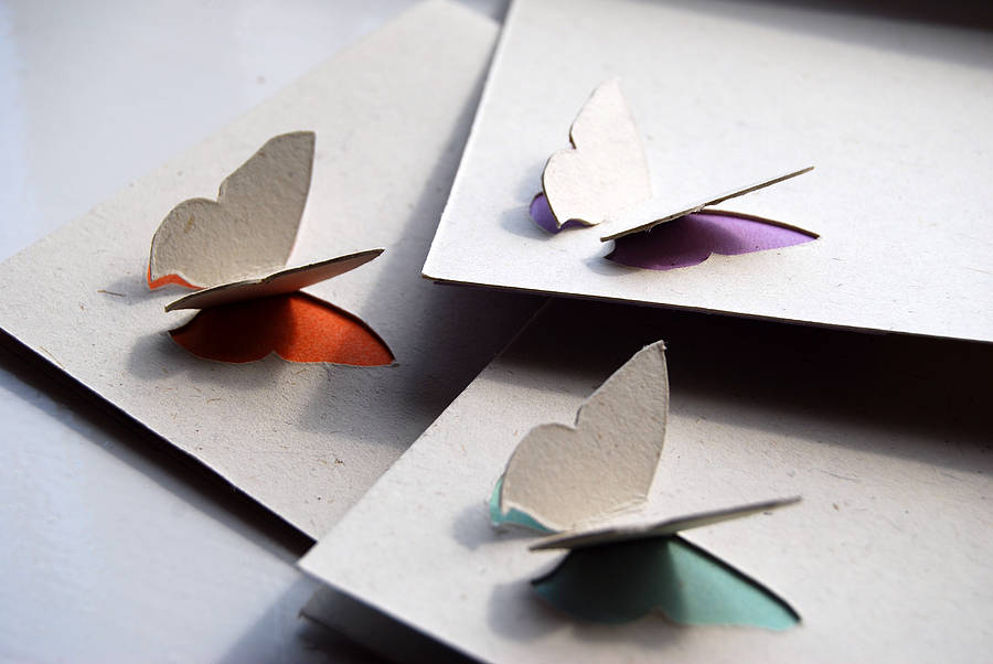 simple 3d butterfly card by ruby wren designs notonthehighstreet.com