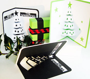 Personalised Christmas Tree Pop Up Card