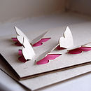 Butterfly Trio 3D Personalised Hand Cut Card