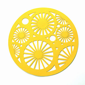 Stella table centrepiece, Yellow