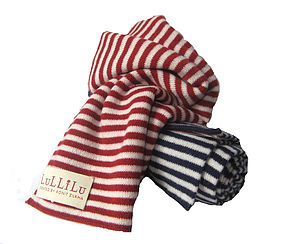 Pure Cashmere Striped Scarves - hats, scarves & gloves