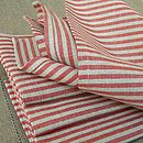 Red Striped Napkins Jazz