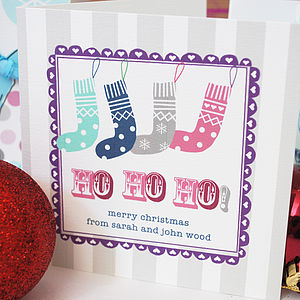 Pack Of 10 Personalised Christmas Cards - cards
