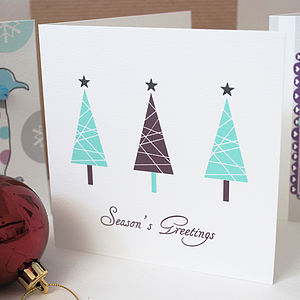 Personalised 'Trees' Christmas Cards - cards
