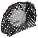Polka Dot Oilcloth Toiletry Bag In Black